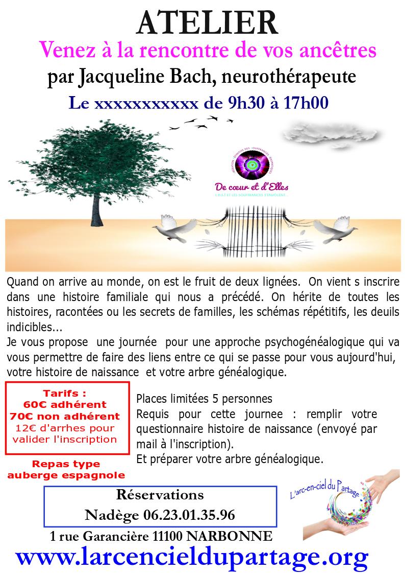 Narbonne - Atelier Venez à la rencontre de vos ancêtres @ l'arc en ciel du partage